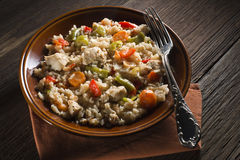 Chicken risotto stock photo