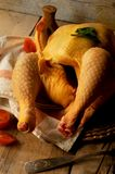 Chicken for roast elaboration cook Royalty Free Stock Image