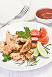 Chicken roasted meat and vegetable Royalty Free Stock Photo