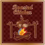 Chicken roasted old Royalty Free Stock Photography