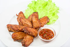 Chicken roasted wings Stock Images