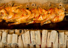 Chicken roasting Royalty Free Stock Images