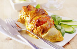 Chicken roll Royalty Free Stock Photo