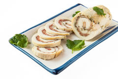Chicken roll. Stuffed with ham Royalty Free Stock Image
