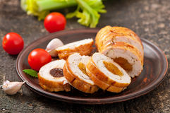 Chicken roll Stock Images