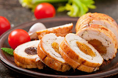 Chicken roll Stock Photo