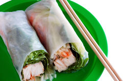 Chicken roll. Or, Spring roll Royalty Free Stock Photos