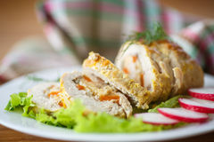 Chicken Roll Meat Royalty Free Stock Photo