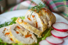 Chicken Roll Meat Stock Photos