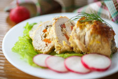 Chicken roll meat Stock Photography