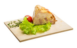 Chicken roll Stock Image
