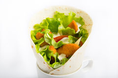 Chicken roll on white background Royalty Free Stock Images