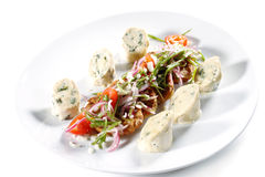 Chicken Roll With Vegetable Marrow Galette Royalty Free Stock Image