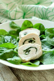 Chicken rolls with spinach Royalty Free Stock Image