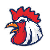 Chicken rooster head mascot Stock Photo