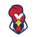 Chicken rooster head mascot Royalty Free Stock Photo