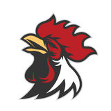 Chicken rooster head mascot 6 Stock Photo