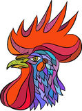 Chicken Rooster Head Side Drawing Stock Photos