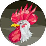 Chicken Rooster Head Side Low Polygon Stock Photos
