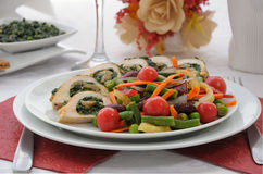 Chicken roulade Royalty Free Stock Photography