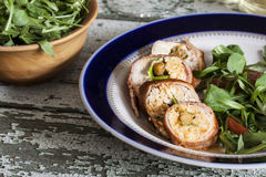 Chicken roulade Stock Image
