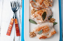 Chicken with sage Royalty Free Stock Images