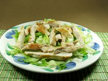Chicken salad. On a plate Stock Photos
