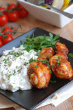 Chicken with salad Royalty Free Stock Images