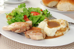 Chicken and salad Royalty Free Stock Photography