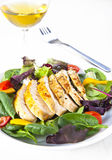 Chicken salad. Fresh salad with sliced grilled chicken breast Royalty Free Stock Photos