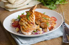 Chicken with salad Stock Photos