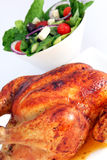 Chicken and Salad Royalty Free Stock Images