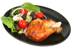 Chicken and Salad Stock Photography
