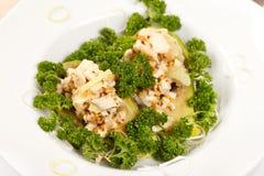 Chicken salad with avocado Royalty Free Stock Photo