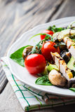 Chicken salad with avocado Royalty Free Stock Image