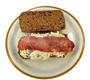 Chicken salad and bacon sandwich Royalty Free Stock Images