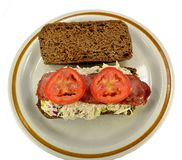 Chicken salad and bacon sandwich Royalty Free Stock Image