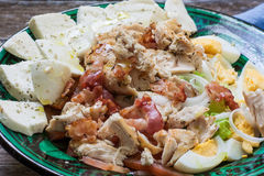 Chicken salad on bowl Stock Photo