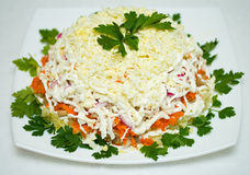 Chicken salad with cheese Stock Image
