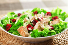 Chicken salad with cherries Stock Photo