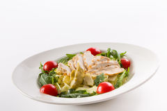 Chicken salad. With cherry tomato and rocket salad Royalty Free Stock Photo