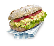 Chicken salad ciabatta sandwich with clipping path Stock Image