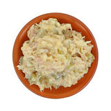 Chicken Salad Clay Dish Royalty Free Stock Photos