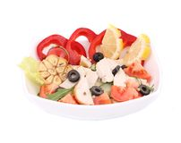 Chicken salad close up. Stock Images