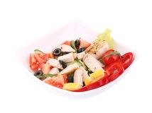 Chicken salad close up. Stock Image