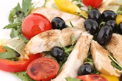 Chicken salad close up. Stock Photo