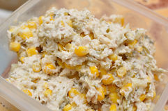 Chicken salad with corn Stock Images