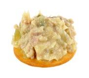 Chicken Salad on Cracker Stock Image