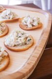 Chicken Salad on Crackers Royalty Free Stock Image