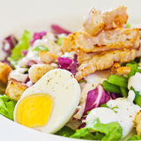 Chicken salad with green beans Stock Photo